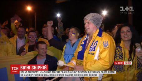 Несколько тысяч фанатов прибыли в Харьков болеть на матче Украина-Чехия