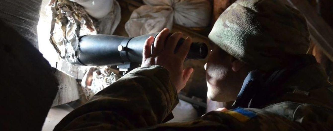 Боевики более часа обстреливали украинских военных вблизи Луганского