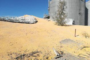 Возле Сум посреди ночи разорвало элеватор и кукурузой засыпало соседнюю улицу
