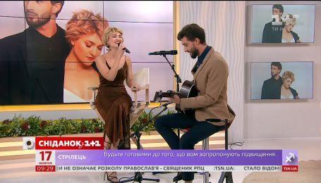 Вера Кекелия и Роман Дуда отпраздновали первую годовщину свадьбы в Сніданку з 1+1