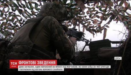 Ситуація на фронті: двоє українських бійців загинули, один дістав поранення