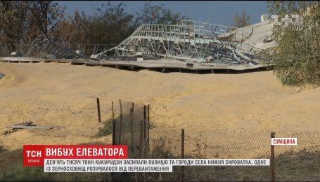 10 тысяч тонн кукурузы взлетело в воздух: последствия взрыва зернового элеватора в Сумской