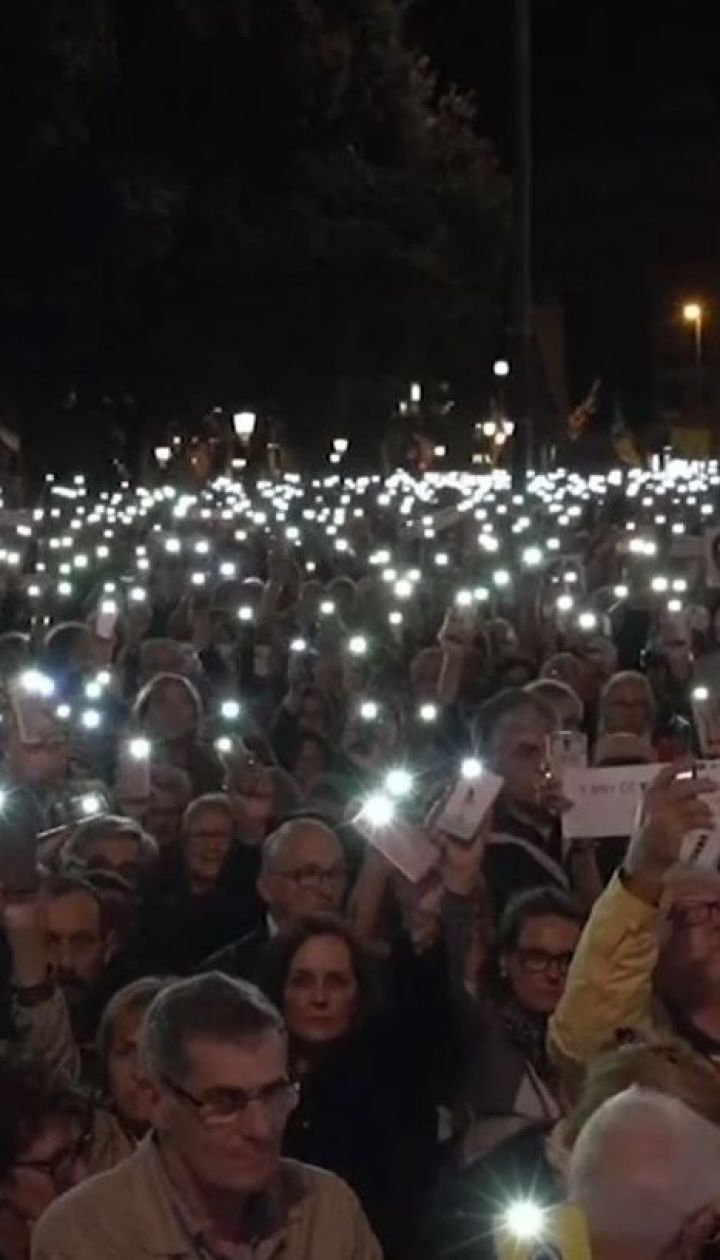 Річниця затримань у Каталонії: тисячі людей вимагали звільнити заґратованих політиків та активістів