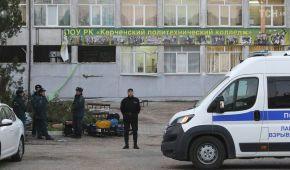 Разбитые окна и следы крови на полу. Агентства обнародовали новые фото из колледжа в Керчи