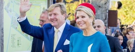 Какая яркая королева: Максима вместе с мужем-королем совершили визит в провинцию Зеландию
