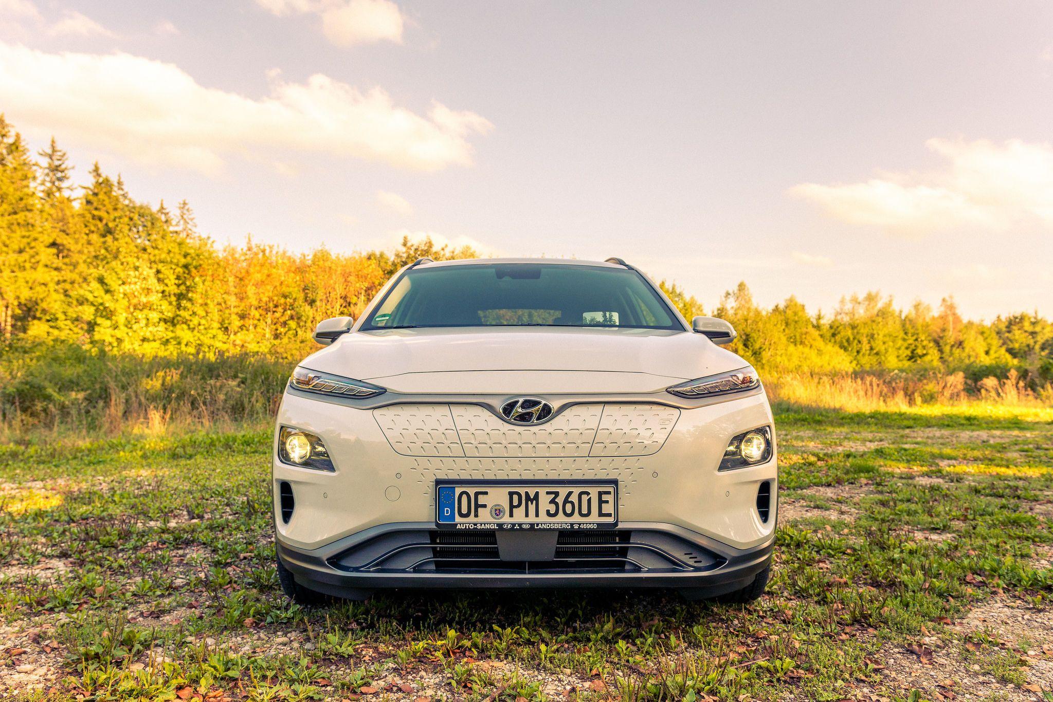 Електрокар, електромобіль Hyundai Kona, єврономера, євробляхи