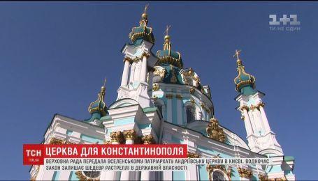 Рада передала Андреевскую церковь в постоянное пользование Вселенскому патриархату