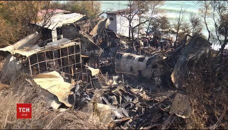 На Одесском побережье сгорели пляжные домики