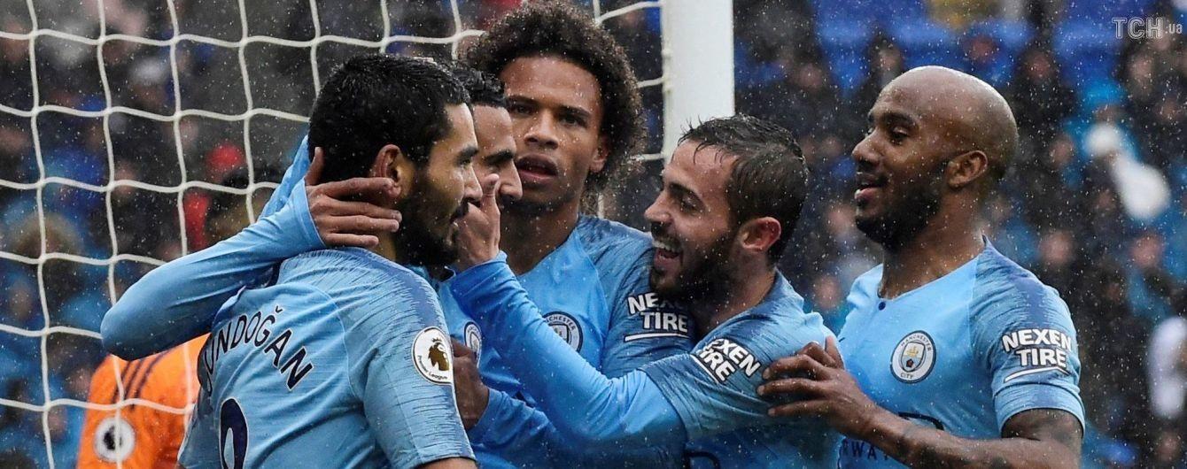 """""""Манчестер Сити"""" после неожиданного поражения в Лиге чемпионов отправил пять голов в ворота """"Кардифф Сити"""""""