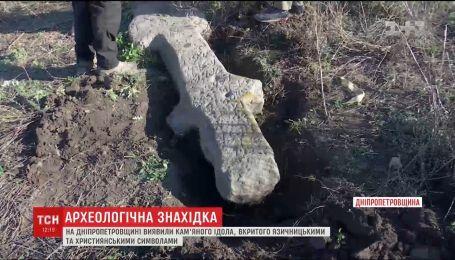 Уникальная находка: в Днепропетровской области нашли древнего каменного идола