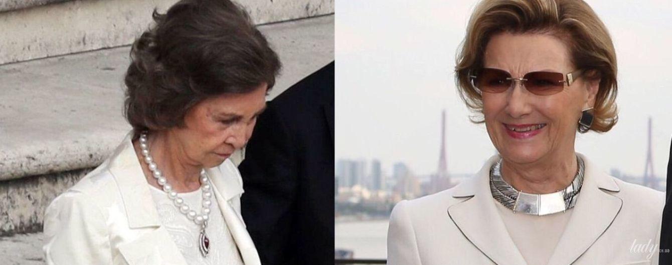 Любят белый цвет: битва образов королевы Софии и королевы Сони