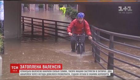 Сильные ливни вызвали транспортный коллапс в Валенсии