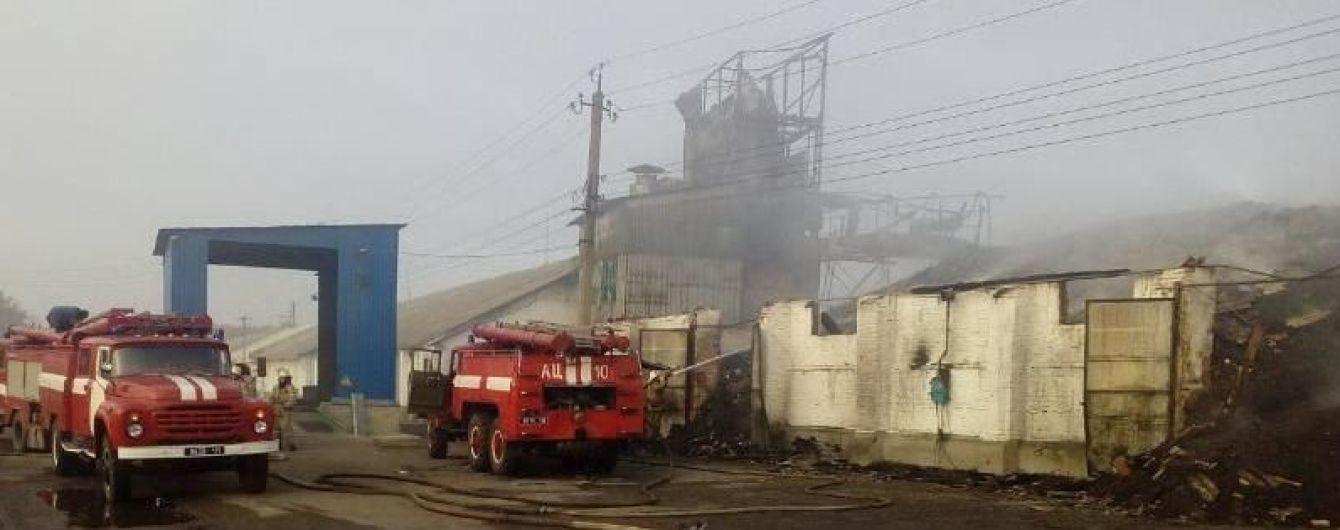 На Харьковщине огонь охватил зерносклады: сгорели тонны подсолнечника и пшеницы