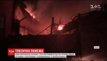 Во время тушения пожара на заводе во Владикавказе погиб огнеборец