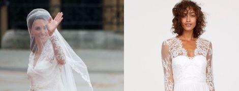 Быть, как Кейт: бренд H&M выпустил платье, похожее на свадебный наряд герцогини Кембриджской
