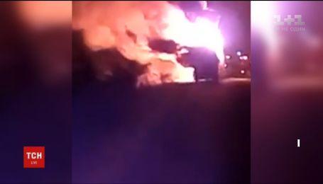 На Львівщині вигорів автобус, який віз туристів