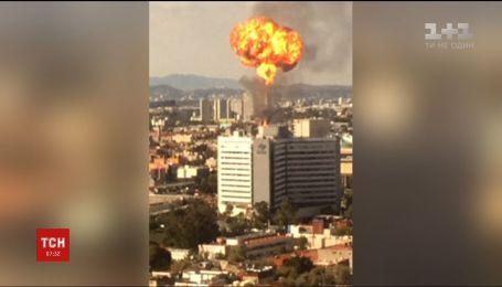 Вибух та пожежа сталися на спиртовому заводі у Мехіко