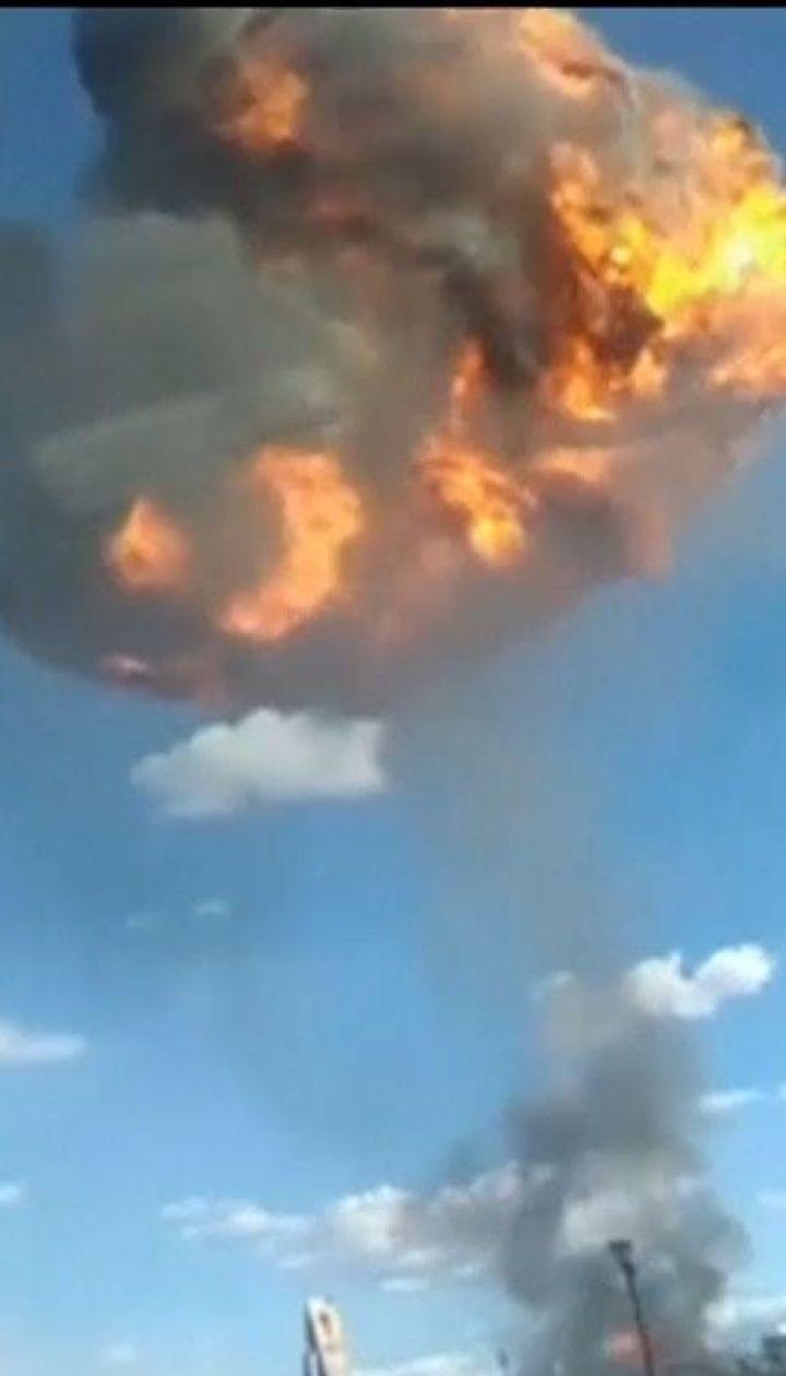 У мексиканській столиці пролунав потужний вибух та спалахнула пожежа на спиртовому заводі