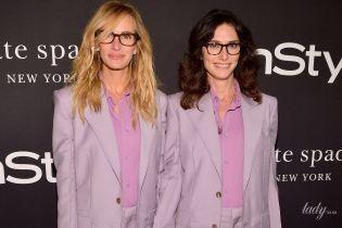 Пришли в одинаковых костюмах: Джулия Робертс и ее стилист отличились на светском мероприятии