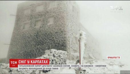 """Горнолыжный курорт """"Драгобрат"""" засыпало снегом"""