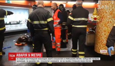 Пострадавших в римском метро украинцев выписали из больницы