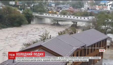 Сокрушительные наводнения прокатились сразу несколькими странами Европы