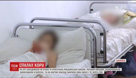 На Буковине 45 школьников и беременная учительница заболели корью