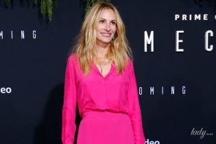 Яркая и красивая: Джулия Робертс в костюме цвета фуксии блистала на премьере в Лос-Анджелесе