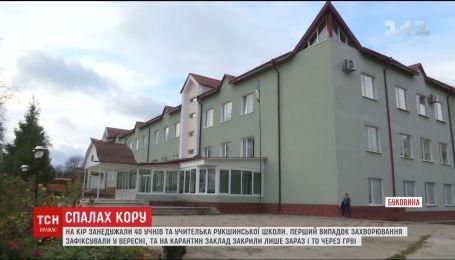 Школу на Буковині, учні та вчителька якої занедужали на кір, закрили на карантин через ГРВІ