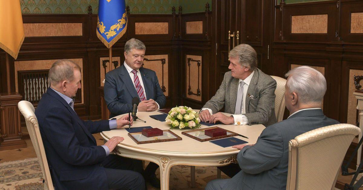На Банковой собрались на разговор четыре президента Украины