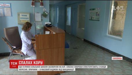 У 40 учеников школы на Буковине зафиксировали заболевания корью