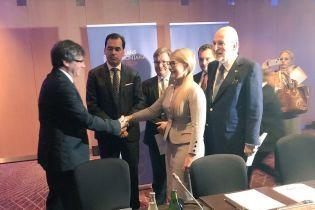 Тимошенко встретилась с каталонским сепаратистом-беглецом Пучдемоном