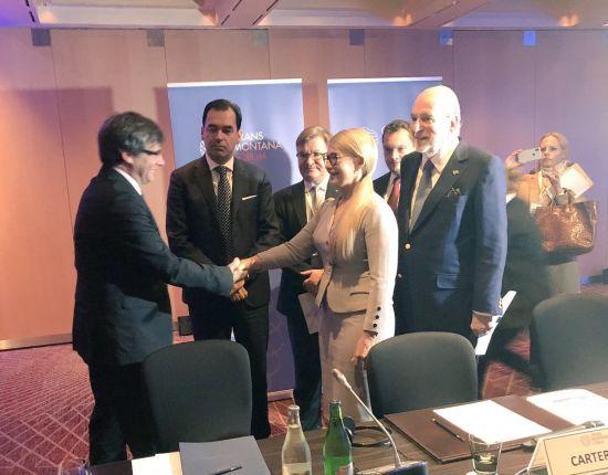 Тимошенко зустрілась із каталонським сепаратистом-утікачем Пучдемоном