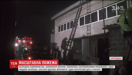 В ДСНС рассказали детали масштабного пожара на предприятии в Харькове