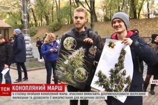 """По Киеву прошел """"конопляный марш"""""""