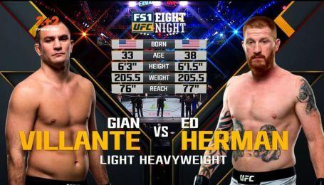 UFC. Джан Вілланте – Ед Херман. Відео бою