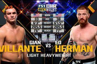 UFC. Джан Вилланте – Эд Херман. Видео боя