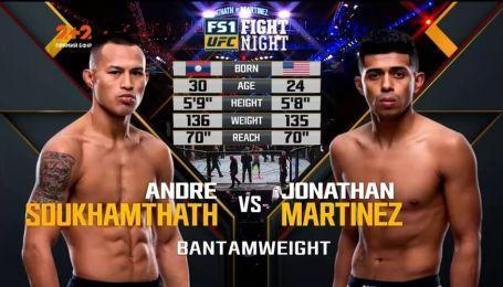 UFC. Андре Сухамтат – Джонатан Мартінес. Відео бою