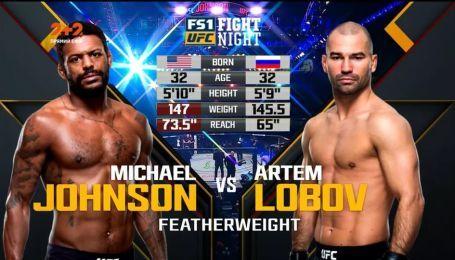 UFC. Майкл Джонсон – Артем Лобов. Відео бою