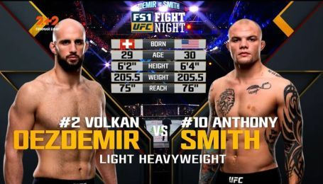 UFC. Волкан Оздемір – Ентоні Сміт. Відео бою