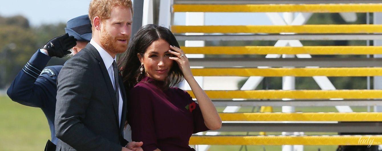 Элегантная герцогиня Сассекская и принц Гарри покинули Австралию