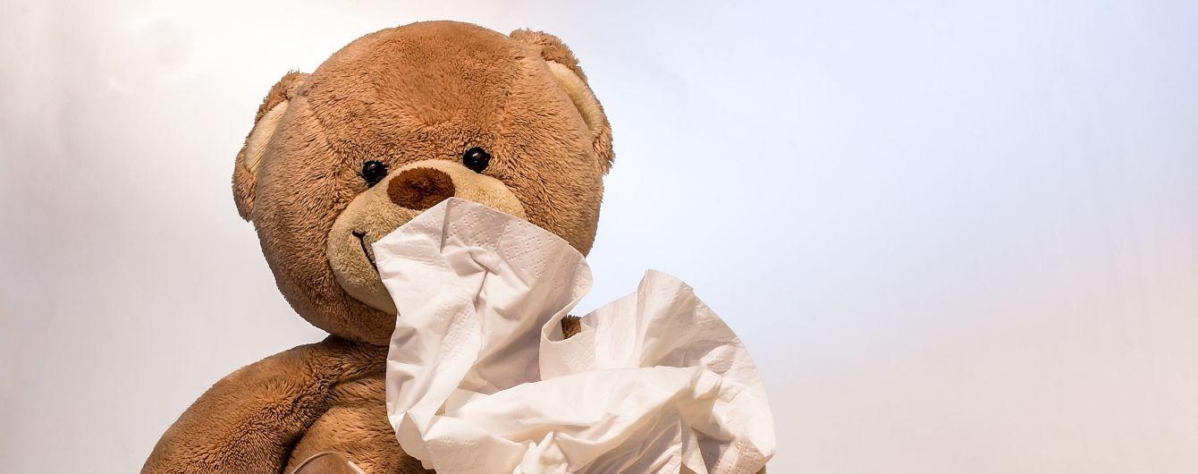 За минулий тиждень в Україні збільшився рівень захворюваності на грип і ГРВІ серед дітей