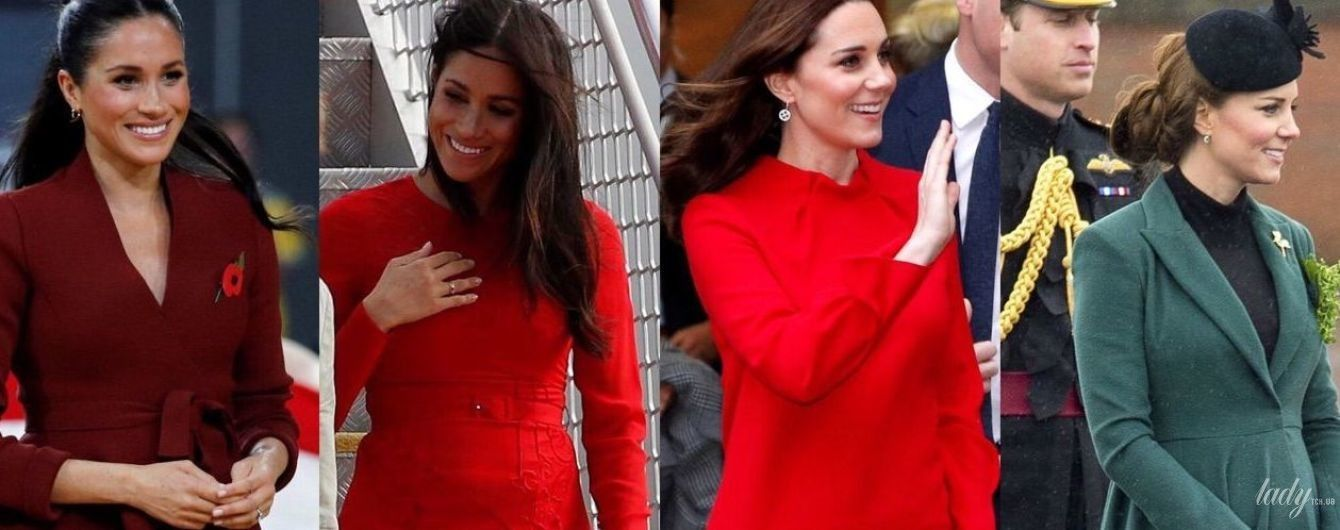 """Кейт vs Меган: битва """"вагітних"""" образів герцогинь"""