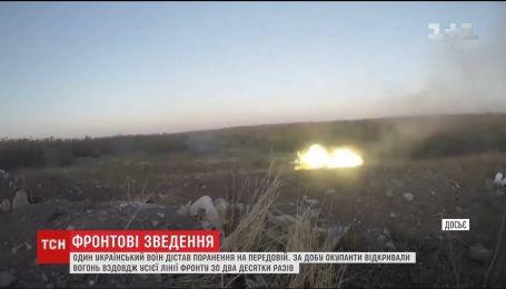За сутки оккупанты 20 раз открывали огонь вдоль всей линии фронта