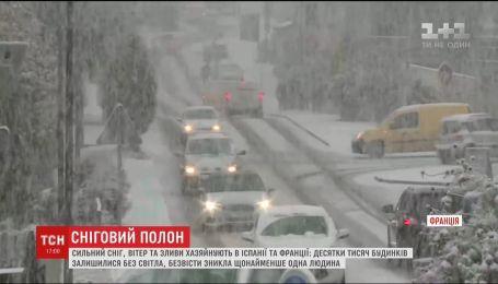 У Європі тисячі будинків лишилися без світла через снігопади