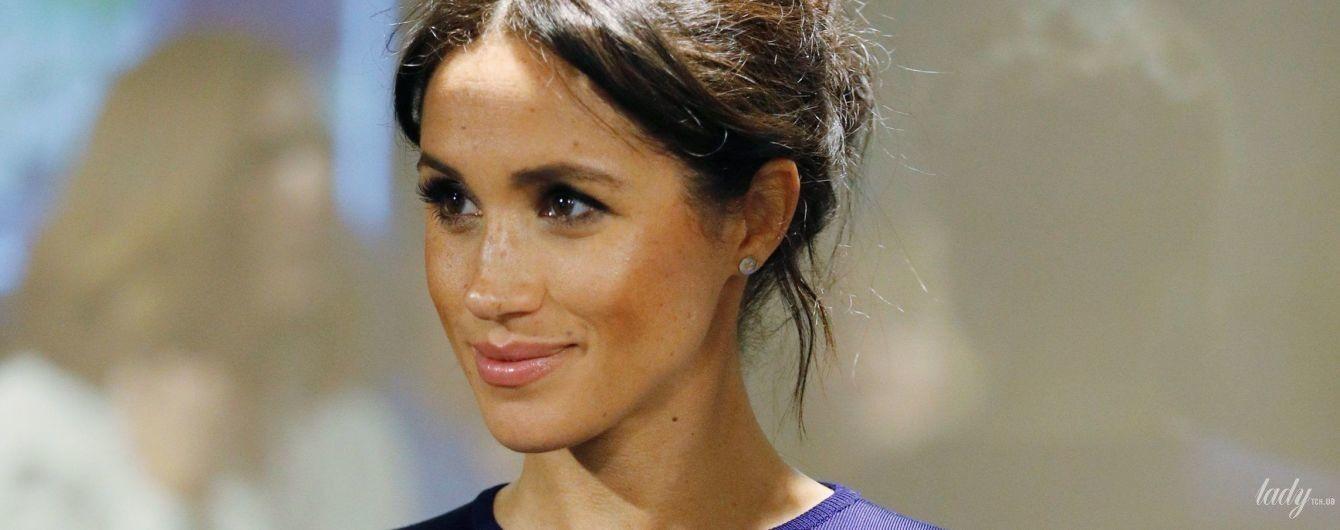 Герцогиня любить синій: ще один красивий образ вагітної герцогині Меган Сассекської