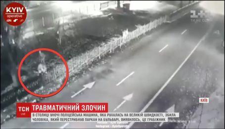 В столице полицейская машина случайно сбила мужчину, который ограбил прохожего