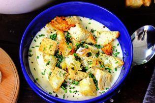 Сирний крем-суп: ситний і зігрівальний
