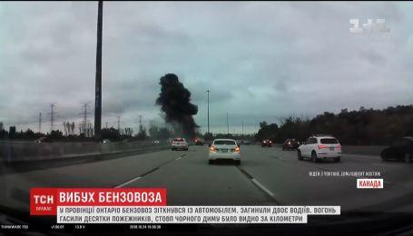 У провінції Онтаріо бензовоз зіткнувся з автомобілем