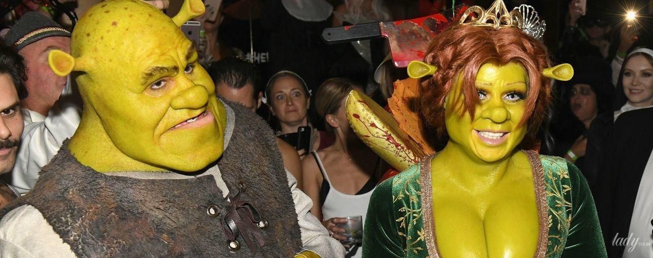 Королева Хэллоуина: Хайди Клум пришла на вечеринку в костюме тролля